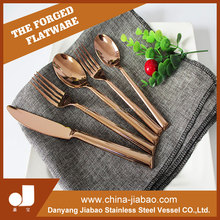 Rose Gold Cutlery, Cooper Flatware, Stainless Steel Dinnerware Set