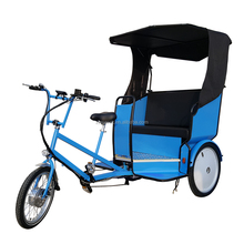 Sightseeing Transport Three Wheeler Electric Beca Becak Trike, Bike Cab Bici Taxi Ecologico Cyclo Trishaw