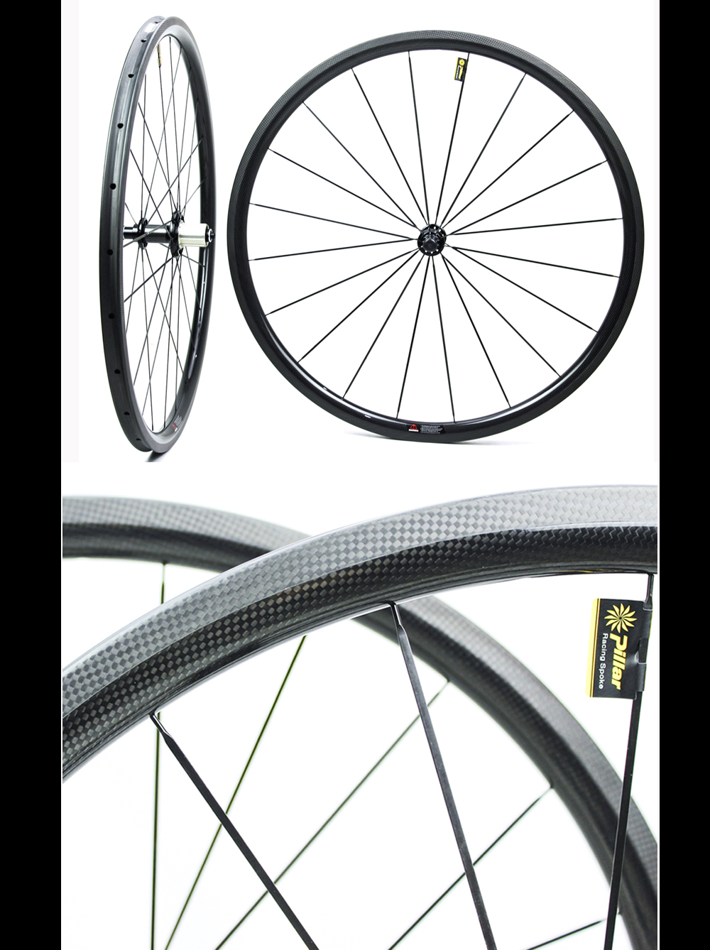 Only 1130g weight wheelset 700C Clincher Road bike Carbon bicycle wheels with BITEX 305F hub