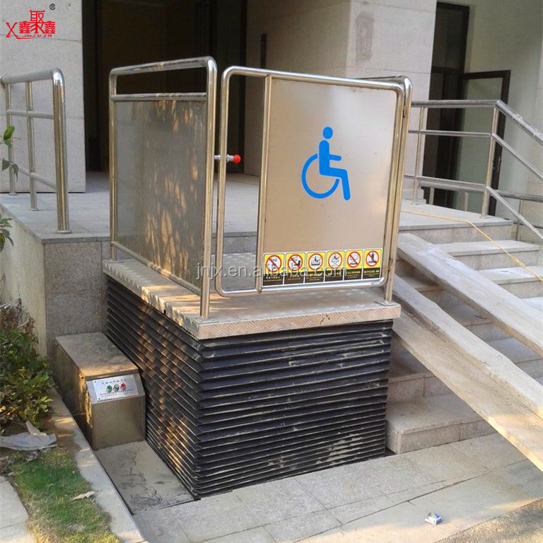 hydraulic wheelchair vertical lift for disable d person for sale from China