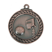 Design your own custom metal crafts antique Cooper plated award basketball sports medal