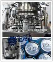 Aluminum pop-top can filling and capping machine