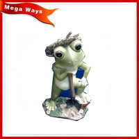 Garden resin working frog figurine
