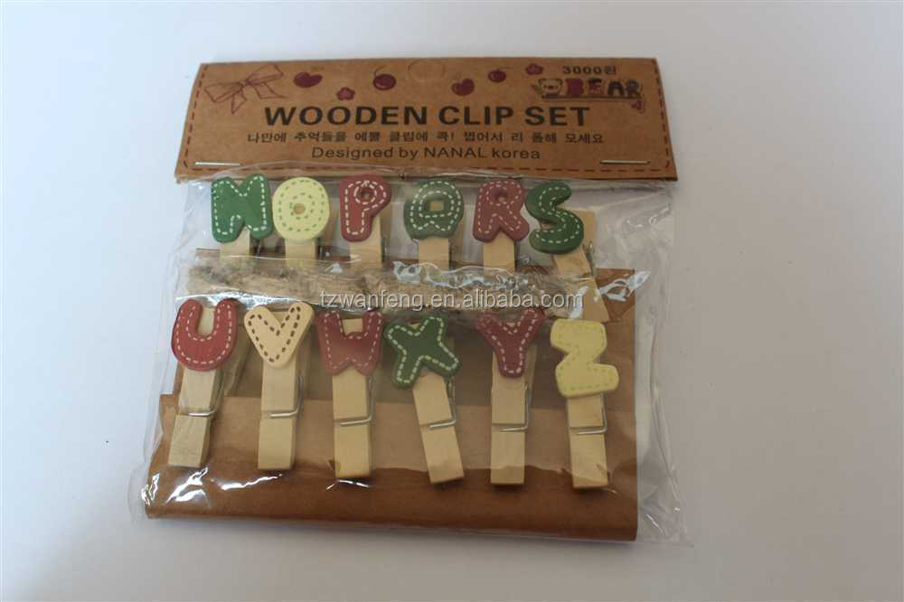 wooden peg art crafts wooden clip rope light clips