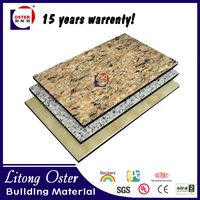 New Building Construction Materials Artificial Marble Look Panel Wall