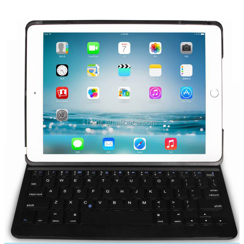 2017 New Ultra Slim Magnetic Bluetooth Keyboard With Detachable Leather Case For Apple iPad Pro 10.5 inch