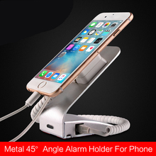 Mobile phone anti theft display holder universal mobile charger stand