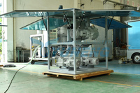 System vacuum pumping for oil filling machine smoking exhaust gas inside the container