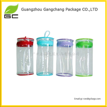 2014 fashion cylindrical clear cosmetic bags organizer tas kosmetik murah wholesale