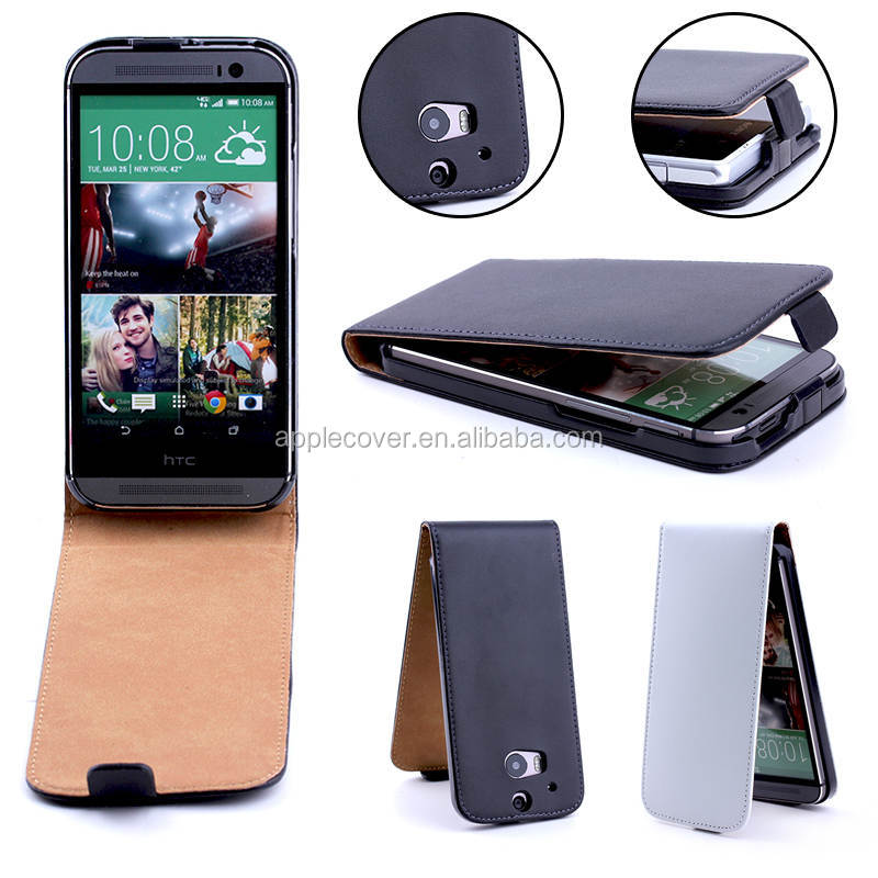 Hard leather case for htc M8, For HTC One M8 phones android flip cover