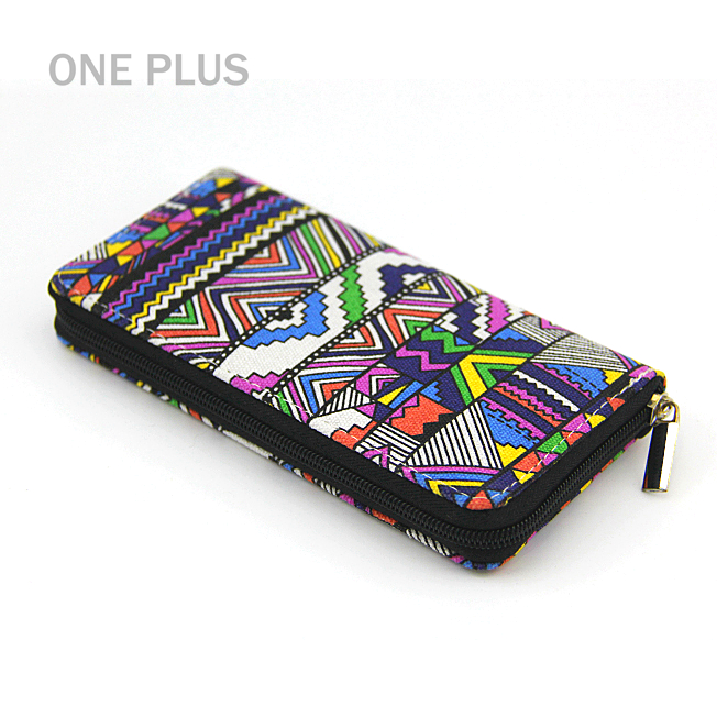 Wholesale Ethnic Style Colorful Printing Canvas <strong>Wallet</strong> For Ladies Purse