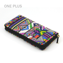 Wholesale Ethnic Style Colorful Printing Canvas Wallet For Ladies Purse