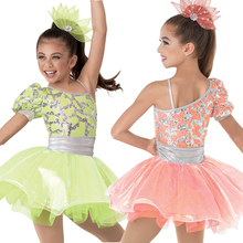 BL0013 girls' ballet latin competition dance costume tutu dress