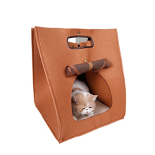 Handmade cat bed dog house ,JENu3c fashion pet travel soft bags