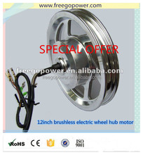 12inch brushless electric wheel hub motor for electric bike/scooter