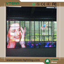 2016 Full Color transparent glass led display board/ smd led see-through led display indoor