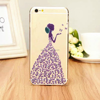 Luxury pricess style pc back cover case ,3d cute case for samsung galaxy s5
