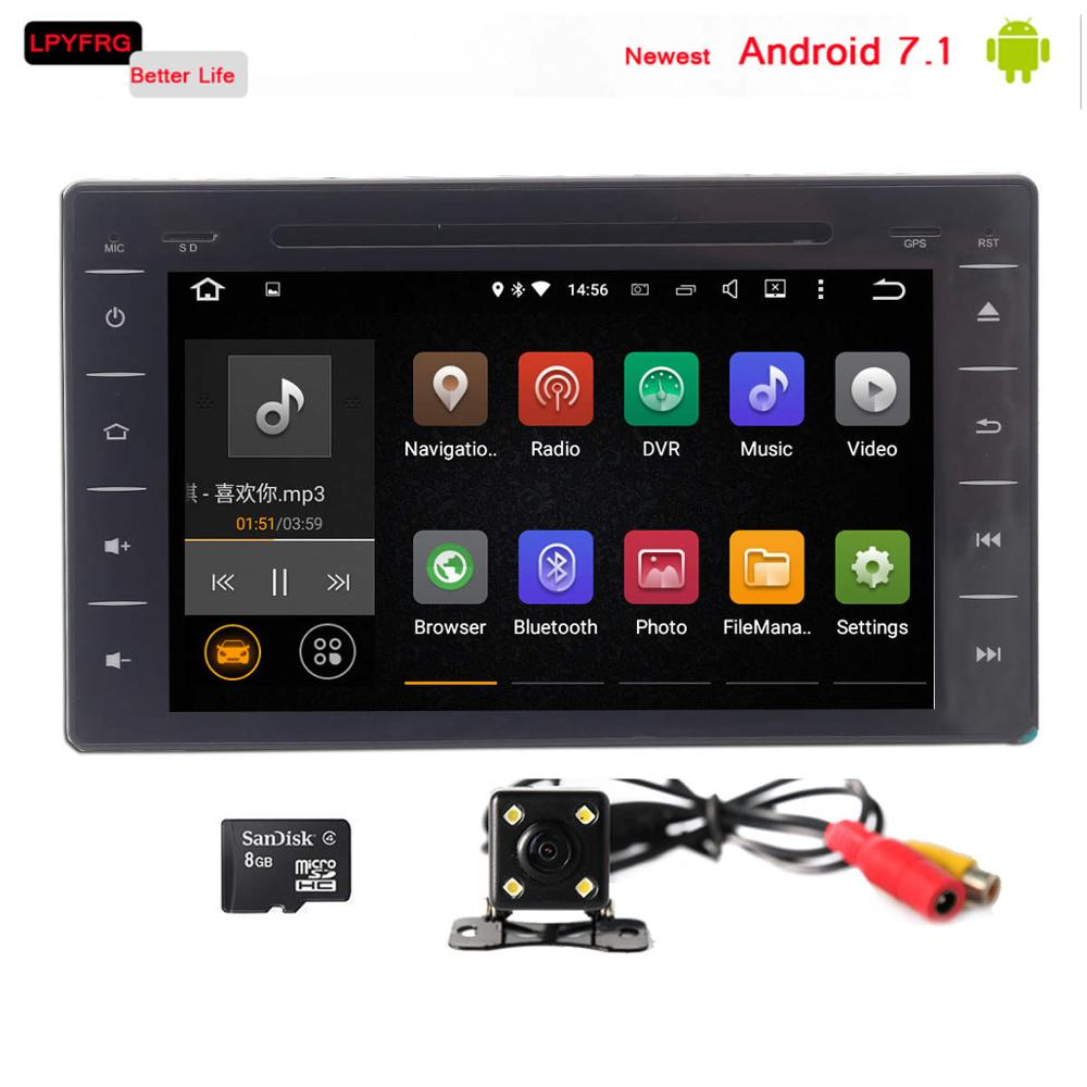 Newest android 7.1 car radio multimedia stereo for toyota hilux 2015 2017 with dvd gps navigation system 2GB+16GB quad core