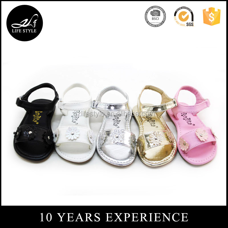 Fashion children shoes hot sale girls shoes 2017 latest kids sandals baby walking shoes