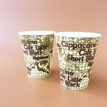 hot sale hot drinking disposable white and black plastic cup lid double wall printed coffee paper cups