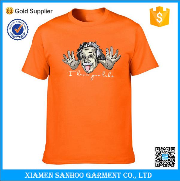 High Quality Ringspun Cotton T-Shirt Printing Mens T Shirts Manufacture In China