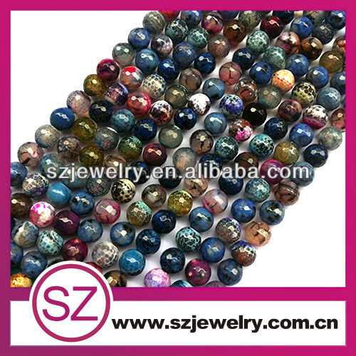 Mix color cutting natural stone beads wholesale