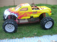 2013 hot sell,4WD 1:5 rc car,gas powered,monster truck, HURRUCANE