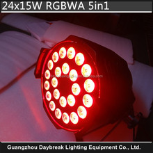 24x15w led par RGBWA 5in1 Stage dmx led lighting full color mixing Disco led par can factory wholesale good price 24 * 15