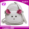 China supplier fashion kids backpack school bag young girl mini bag with cat shape
