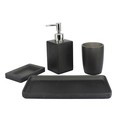 Black 4PCS High quality resin bathroom accessories set,good design resin bathroom accessories set