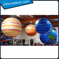 Inflatable hanging balloon/Charming nine planet model for school exhibition