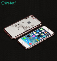 Electroplating Diamond Bumper Clear Crystal TPU Mobile Phone Case Cover For iPhone 6/s