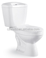 New Design Washdown two piece toilets , bathroom Ceramic wc toilet with factory price