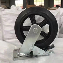 heavy duty solid rubber coated wheel for trolley