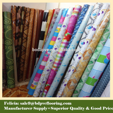 cheap linoleum flooring rolls for home decoration