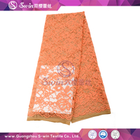 Fashion Design Tricot Super Voile Cotton Swiss Lace with high quality