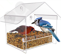 Bird Feeder Wholesale ,Window Bird Feeder House with Strong Suction Cups