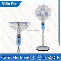 Nigeria market convenient high rotation speed pedestal 16inch solar powered electric fan