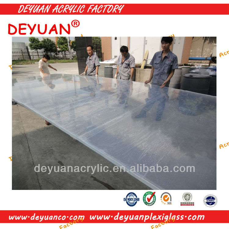 china top factory clear and color 15mm acrylic plastic sheet