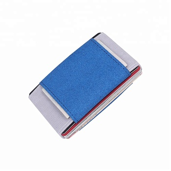 Bonafidi Flexible Elastic Tape Slim Card Holder Wallet