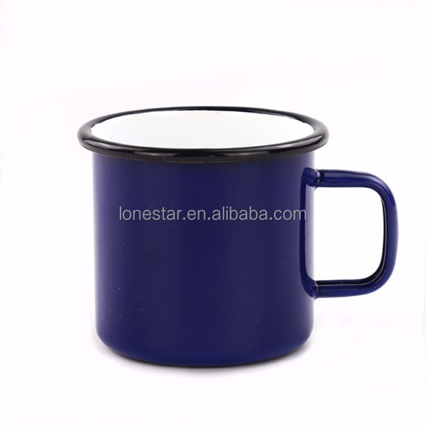Personalized Small Order white color Camping Enamel sublimation Mug