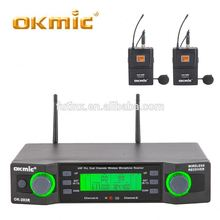 High standard wireless microphone for church fm wireless microphone/body-pack transmitter