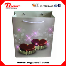 Christmas shopping bag with led lights with CE certificate
