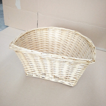 cheap natural wicker bicycle baskets wholesale