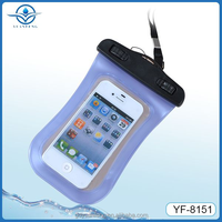 Alibaba china supplier wholesale pvc waterproof phone bag for MP4 and up to 4.5 inch Cell Phone