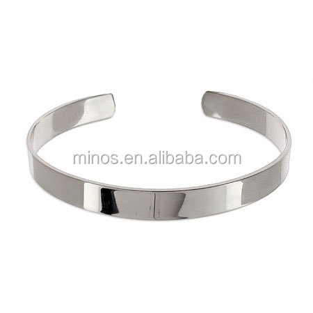 wholesale custom engraved high polished stainless steel cuff bracelet high end cuff