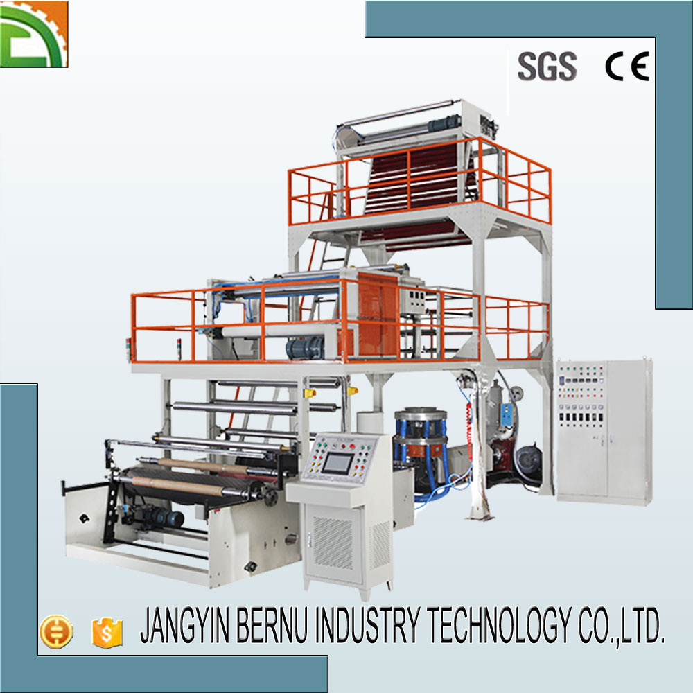 1200mm co extruded multilayer aba film blowing machine