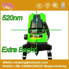 cheap 2 beams cross line laser level self leveling laser level 520nm green extra light