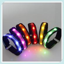 Glowing Bracelet LED lights Flash Wrist Ring Nocturnal Warnings band Running Gear Glowing Armband