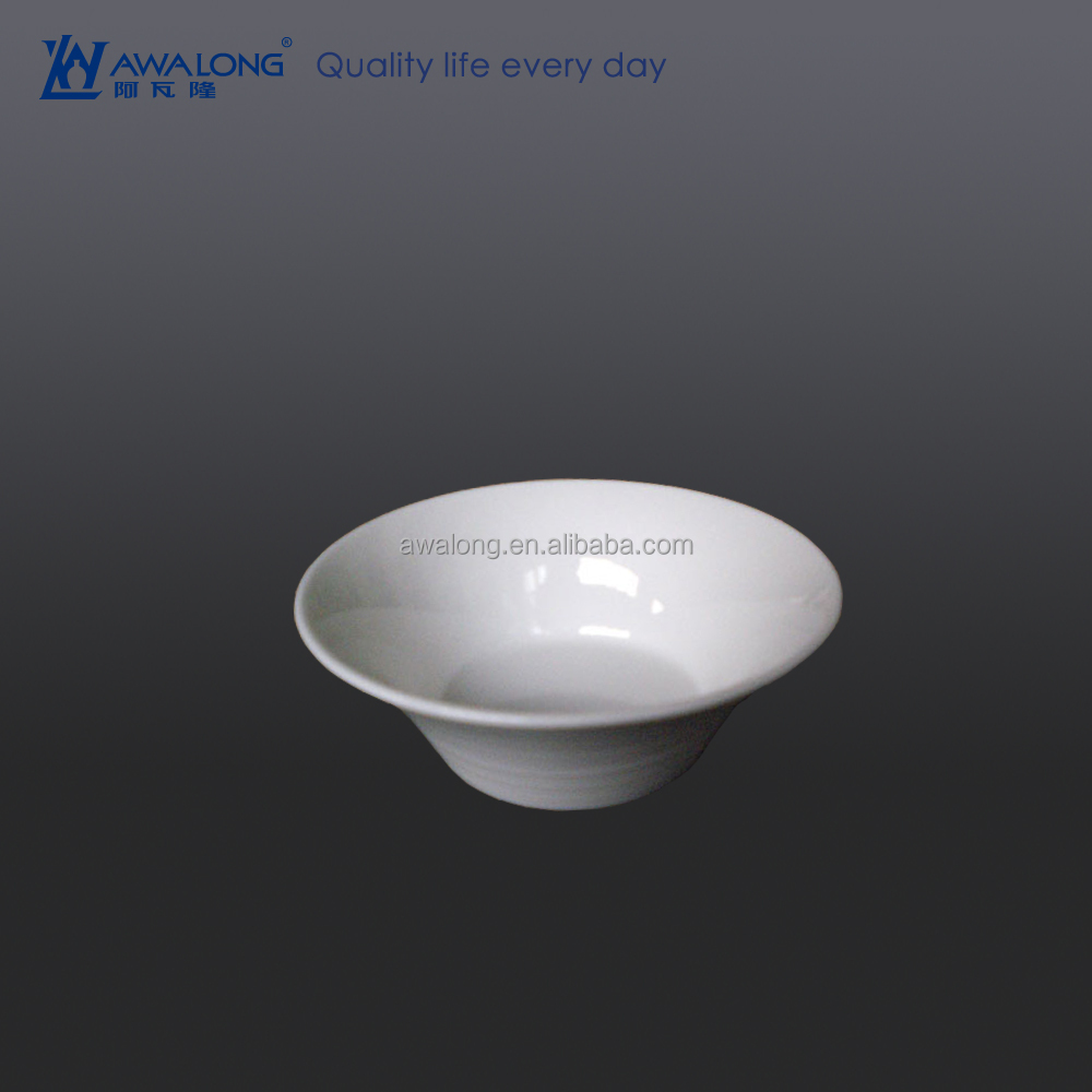 Logo Customized Deep White Bowl, Ceramic Bowl For Wholesale